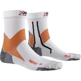 X-Socks Run Fast Calcetines, blanco/naranja